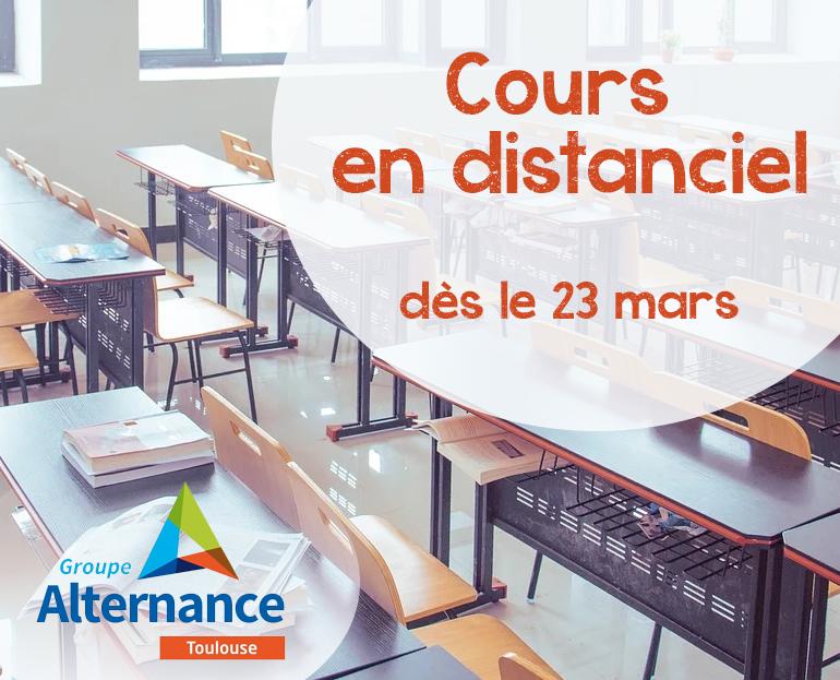 Groupe Alternance Toulouse Cours en distanciel Formation à distance Covid Coronavirus